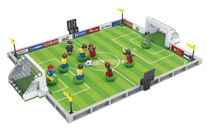 Ausini 250Pcs building blocks football series 200 3D Construction Toys brinquedos action figure anime toys for children 002