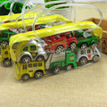 Mini Hot Wheels Toy Car Model Miniature Car Toy Pull Back Bus Truck Toys For Children Kids Boy Gifts Multi Color 6pcs in 1 bag