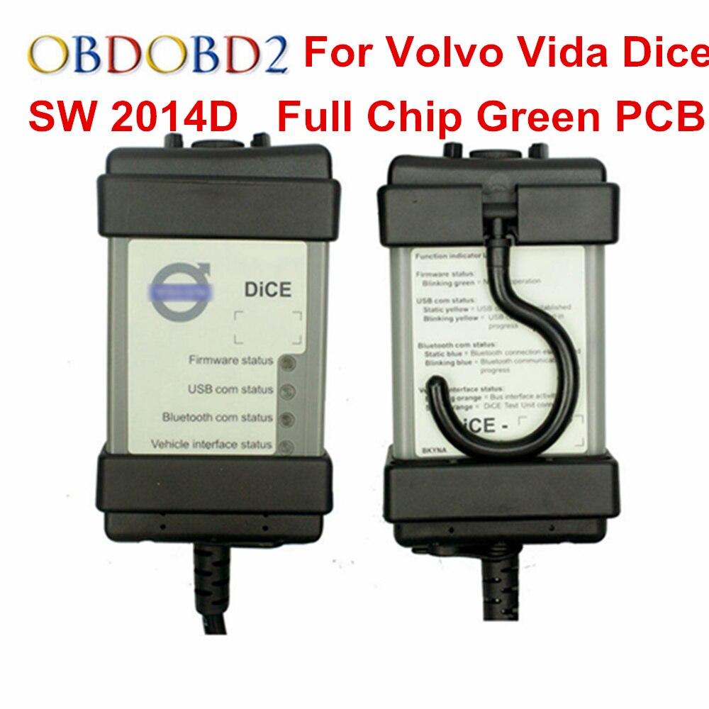 2018 Chip Para Volvo Vida Dice Ferramenta de Diagnóstico Completo SW 2014D Scanner Para A Volvo Dice Pro OBD2 Carros Atualização de Firmware self Test