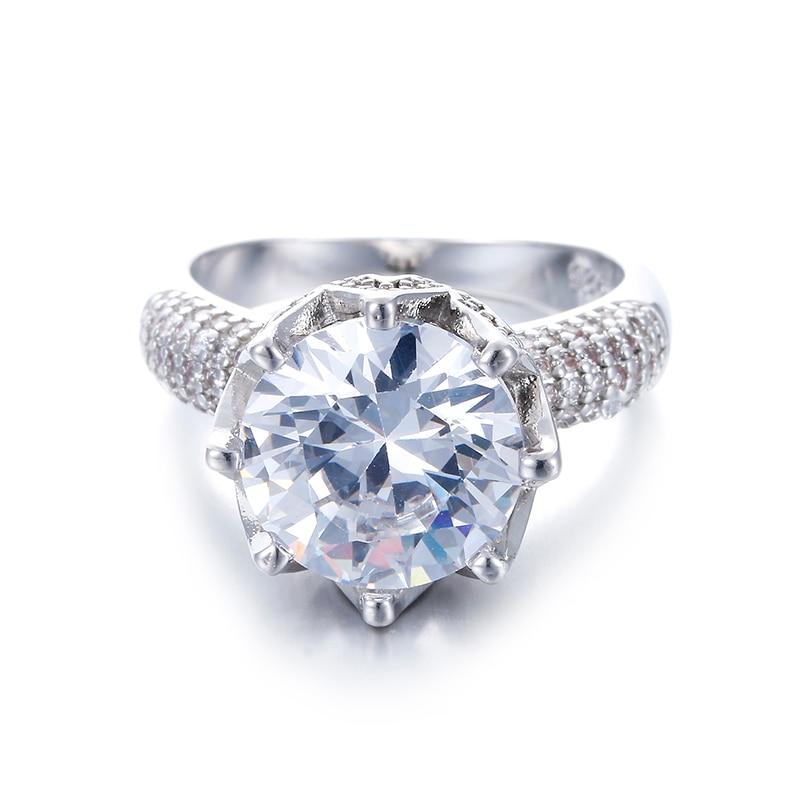 Big Stone 8 karat glans kristallringar för kvinnor Vintage - Märkessmycken - Foto 2