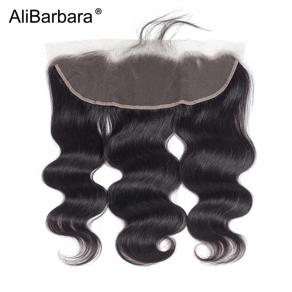 AliBarbara волос малазийский объемная волна 4bundles натуральные волосы с закрытием кружева фронтальной 13x4 5 шт. Волосы remy расширение Бесплатная доставка
