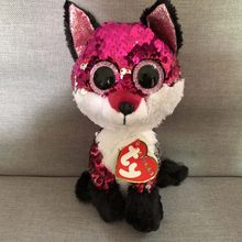 Ty Flippables 6'' 15cm JEWEL Sequin Fox Dinosaur Plush Regular Soft Big-eyed Stuffed Animal Collection Doll Toy(China)