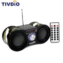 TIVDIO V 113 FM Radio Stereo Digital Radio Receiver Speaker USB Disk TF Card MP3 Music