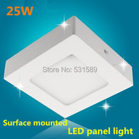 25W Square led panel light kitchen light ceiling square surface mounted Aluminum 2835 SMD AC85 265V warm/cool white