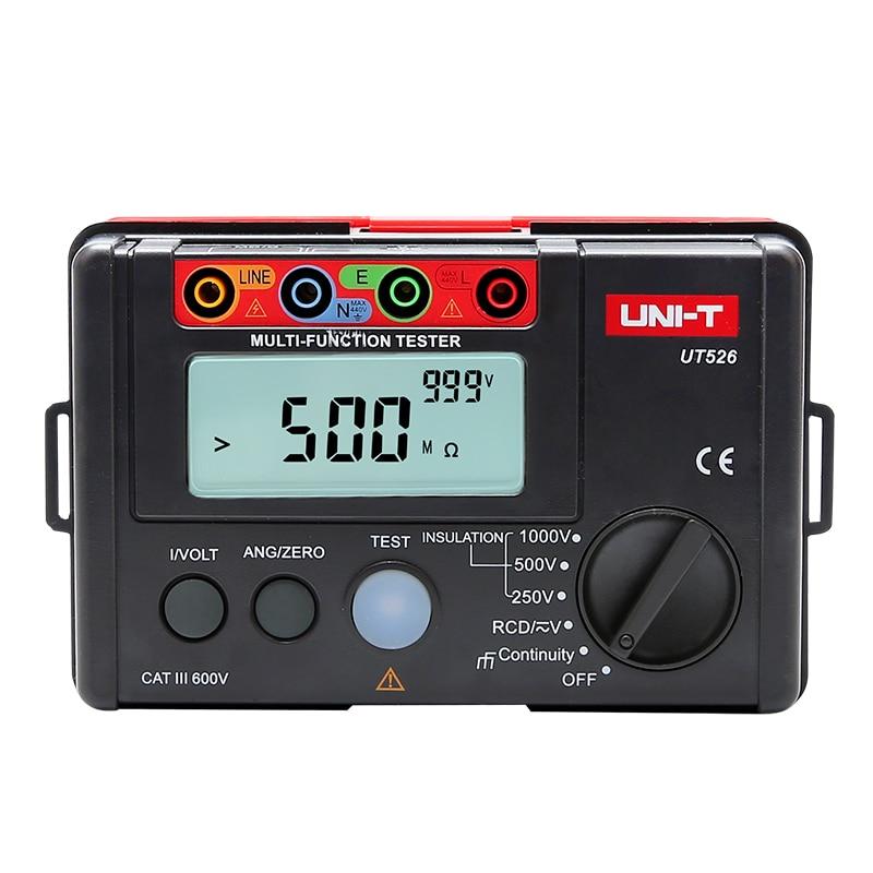 Uni T UT526 Compteur Électrique Numérique Résistance D'isolement Testeur AC DC Voltmètre/Test de DIFFÉRENTIEL/Faible résistance continuité mesure
