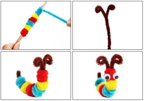 Плюшевая палочка/помпоны радужных цветов Shilly-Stick Обучающие DIY игрушки ручной работы художественное ремесло творчество devolooping игрушки GYH
