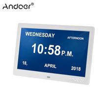 """Andoer 10 """"LED Digital Photo Frame ง่าย Eletronic Photo Album นาฬิกาสนับสนุนนาฬิกาปฏิทินการตั้งค่าเพลงวิดีโอ"""