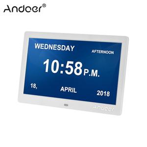 "Image 1 - Andoer 10 ""شاشة Led الرقمية إطار الصورة بسيطة الالكترونية ، ألبوم الصور دعم ساعة التقويم إعداد الوقت الموسيقى صور فيديو"