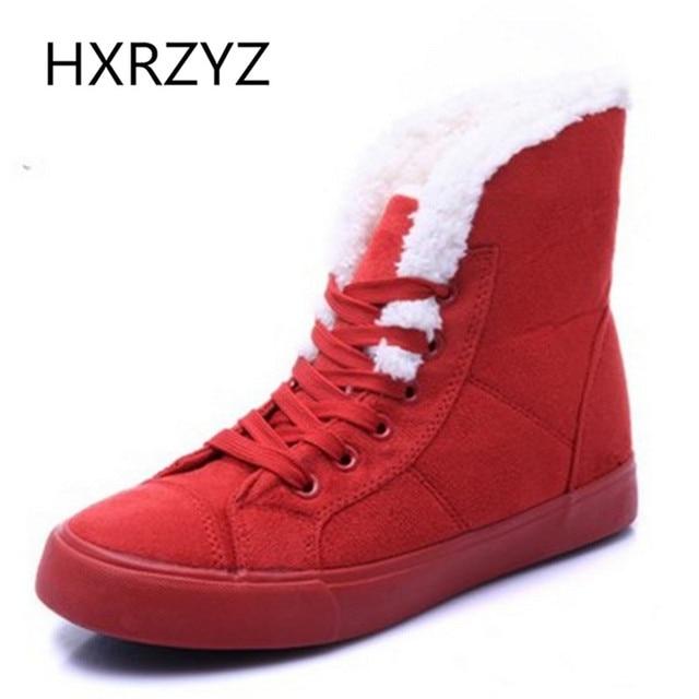 Caballero de piel de moda femenina caliente del tobillo caliente botas de mujer botas de nieve y botas de otoño invierno de las mujeres calza tamaño 36-40
