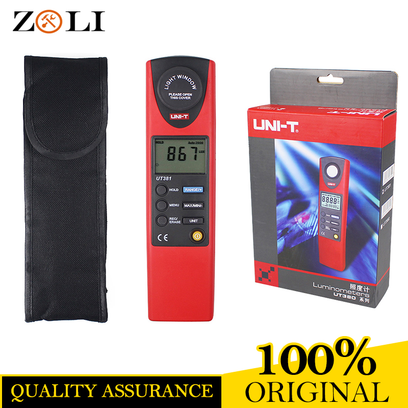 2017UNI-T UT381 Digital Professional Photometer Illuminance Measurement LCD Auto Range LUX/FC Luminometer Lux Meter UNI-T UT381 цена