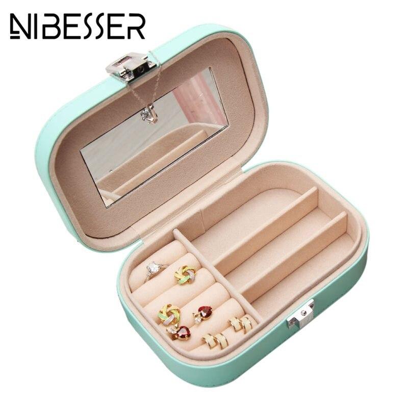 NIBESSER Sweet Cosmetic Case Women Travel Jewelry Casket Professional Jewel Case Necessaries Beauty Organizer Storage Box