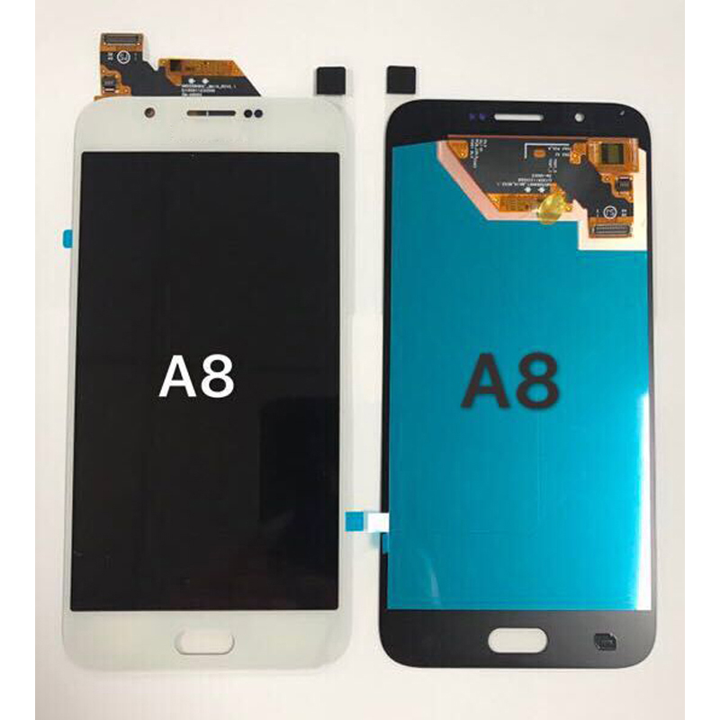 Super Amoled LCD For <font><b>Samsung</b></font> Galaxy A8 <font><b>A8000</b></font> A800 A800F LCD Display and Touch Screen Digitizer Assembly free shipping image