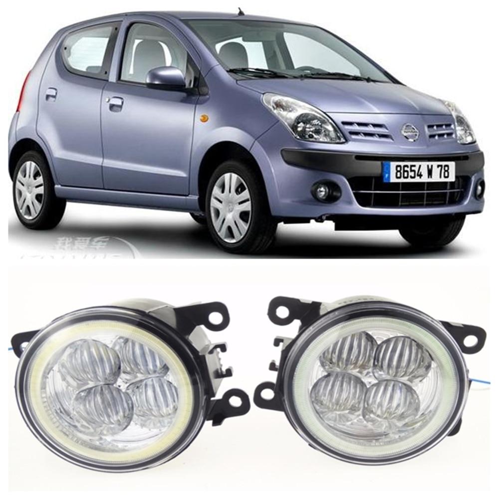 For NISSAN Pixo UA0 Hatchback  2009-2015 10W high brightness LED Angel eyes fog lights Car styling fog lamps use pp ua тв онлайн