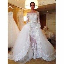 kejiadian Mermaid Wedding Dress with Detachable Train