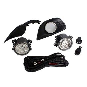 2 Fog Light Grille + 2 Lamp + Wire Switch Kit Fog Lights Assembly Car Front Bumper Lamp For Ford Focus Sedan 4 door 2009-2011