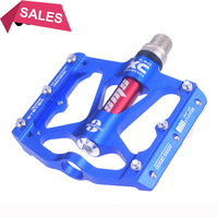 2018 Bicycle Foot Pedal 3 Bearings Mountain Bike Footrest Red Pedals Alu MTB Ultralight 316g Cycling 9/16 BMX Parts Big Treat