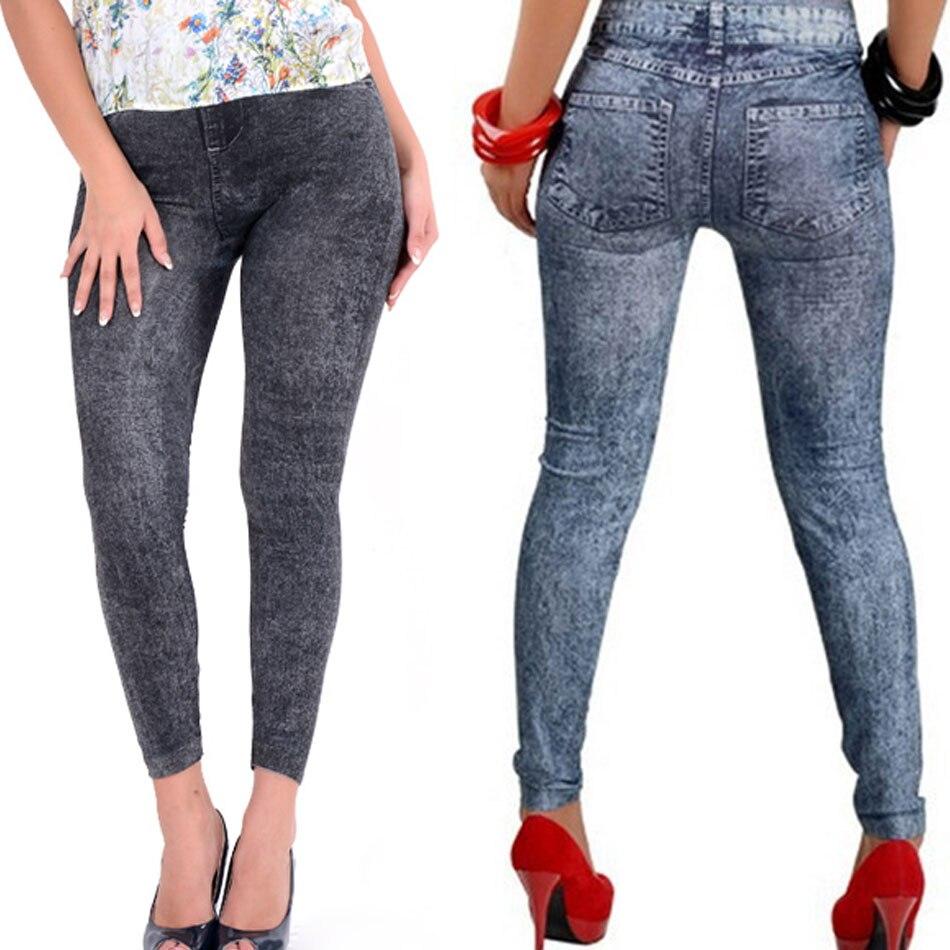 Aliexpress.com  Buy 2016 New Slim Fitness Leggins Women Denim Jeans Leggings Winter Warm Nice ...