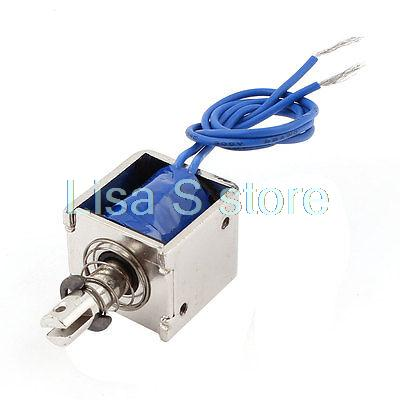 2016 Free Shipping Push Pull Type Open Frame Solenoid Electromagnet 10mm 20N 4.4LB With DC 12V 2A Solenoid