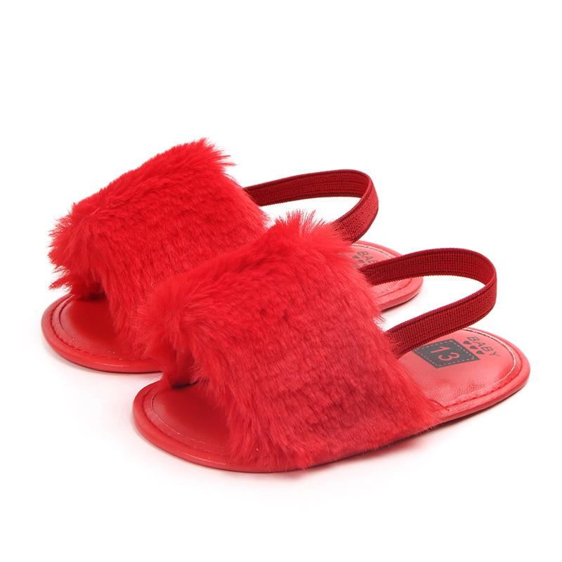 Sandały dla dziewczynek Baby Shoes Nowonarodzone Pu Pluszowe Baby - Buty dziecięce - Zdjęcie 6