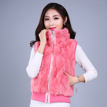 2016 New Korean Rex Rabbit Fur Coat Vests Fox Female Version Of Vest Dress. Welcome And Old Customers To Come