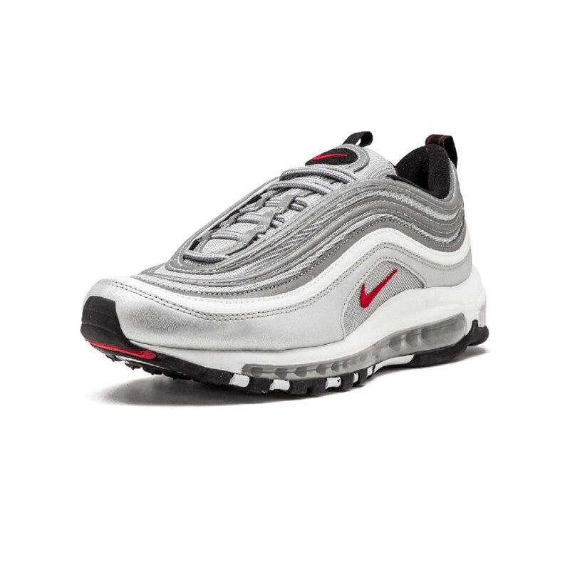Original auténtico Nike Air Max 97 OG QS de las mujeres transpirable zapatos de deportes al aire libre bajo top zapatillas de deporte de marca