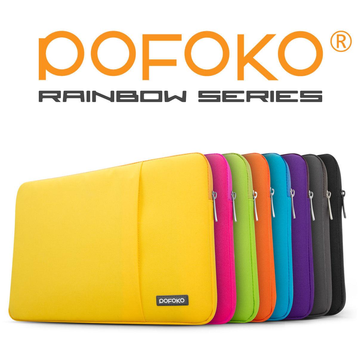 "POFOKO Waterproof anti fall laptop sleeve bag case cover pouch skins For Apple Macbook Pro Air Reina TouchBar 11 12 13 15 16 17"""