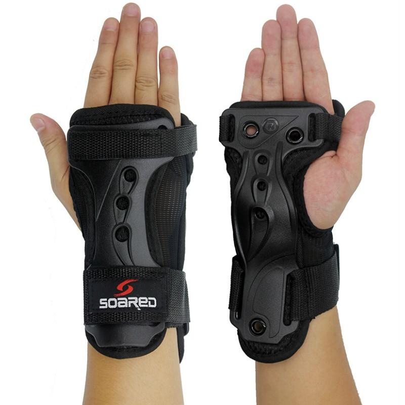 Nuevo Transpirable Patinaje sobre ruedas Deporte extremo Brazaletes Ayuda de muñeca Esquí Muñeca Protección de la palma Snowboard Protector de mano Protector