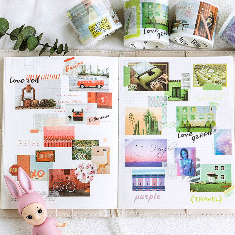 3.5-5 Cm X 5 M Paris Travel Scenery Washi Tape Diy Scrapbooking Diary Decoration Masking Tape Adhesive Tape Kawaii Stationery