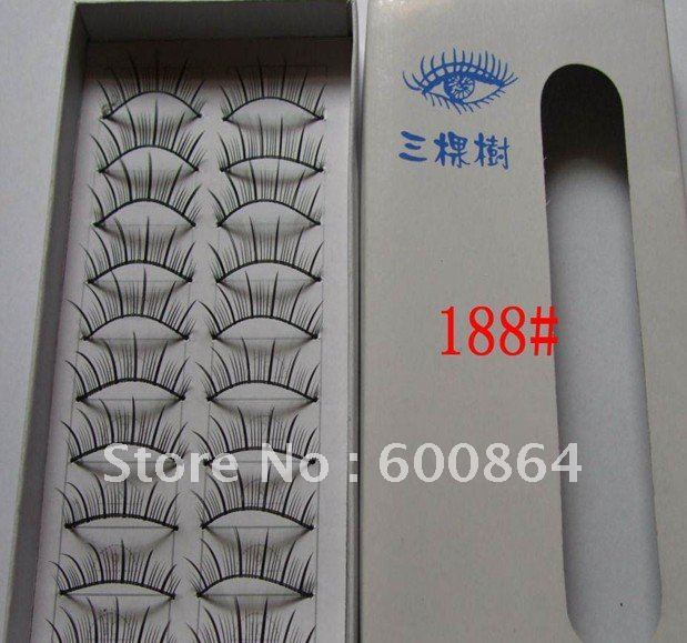 50pairs 188# Fashion Eyelashes eyelash extension False Eyelashes Fake Eyelashes artificial eyelash Hand made Eye lash