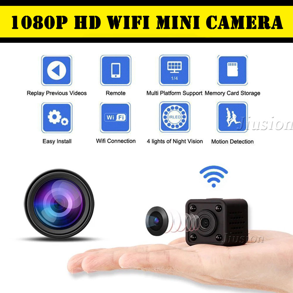 Full HD 1080P WiFi IP Mini Camera HDQ9 Camcorder IR Night Vision Motion Detection DVR Video Voice Recorder P2P Pocket Micro CamFull HD 1080P WiFi IP Mini Camera HDQ9 Camcorder IR Night Vision Motion Detection DVR Video Voice Recorder P2P Pocket Micro Cam