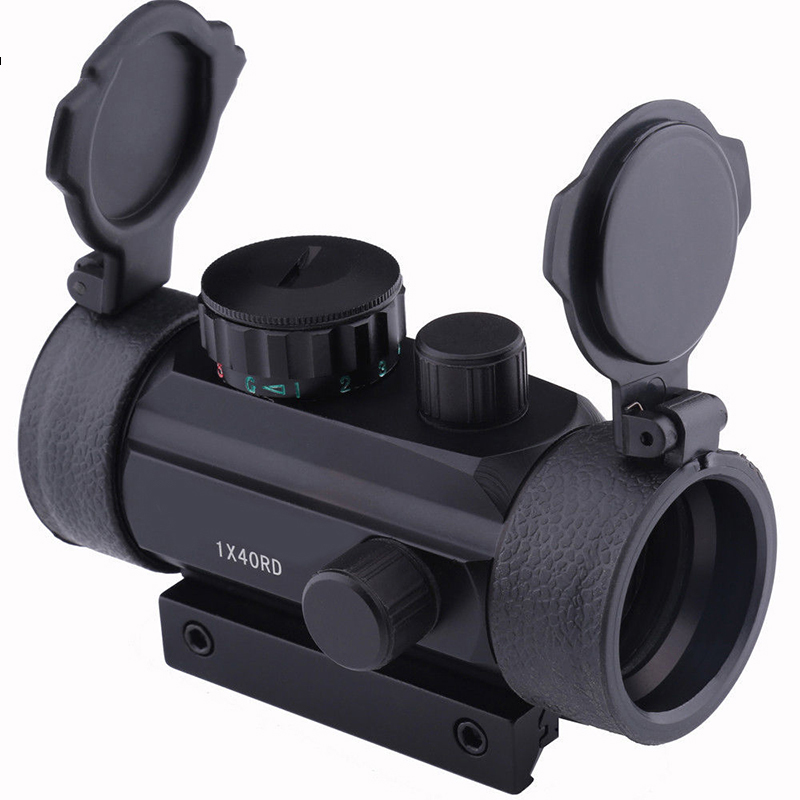цены FYZCION Holographic 1 x 40 Red Dot Sight Airsoft Red Green Dot Sight Scope Hunting Scope 11mm 20mm Rail Mount Collimator Sight