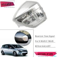 ZUK Автомобильное зеркало заднего вида, сигнальный светильник, боковая индикаторная лампа для Ford S-MAX Galaxy 2006- C-MAX 2011- KUGA ESCAPE 2008