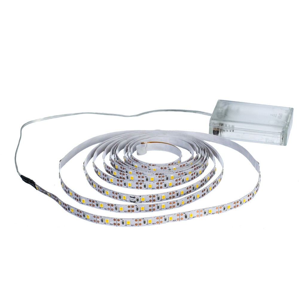 HTB1JiYpMFYqK1RjSZLeq6zXppXal 3AA Battery Power Led Strip Light SMD2835 50cm 1M 2M 3M 4M 5M Flexible Lighting Ribbon Tape White/Warm White Strip Backlight