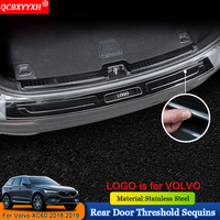 QCBXYYXH Car styling Car Internal External Scuff Plate/ Door Sill Threshold Trim Auto Accessories Fit For Volvo XC60 2018 2019