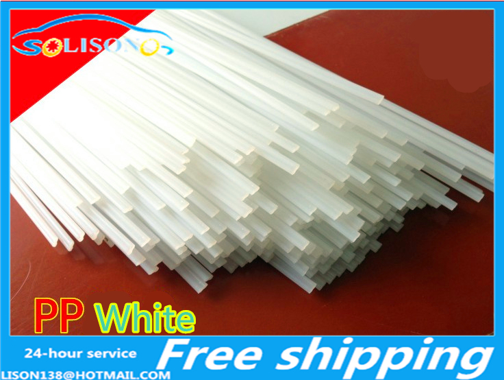 HDPE Plastic welding rods 3mm white triangle polyethylene PEHD pack of 30pcs
