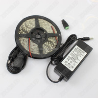 Waterproof LED Strip 3528 Neon Light IP65 120 LEDs 12V 5A Power Adapter LED Light With