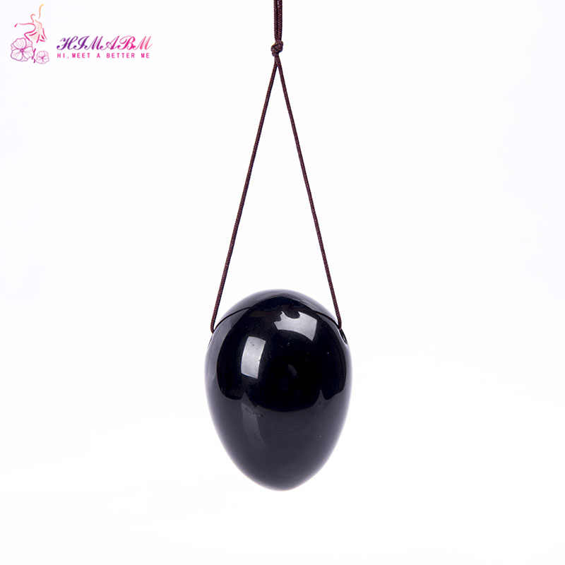 HIMABM 1 pcs natural black obsidian egg for kegel exercise pelvic floor muscles vaginal exercise yoni egg ben wa ball himabm 1 pcs 100