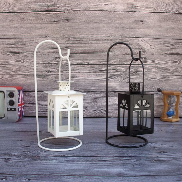 Romantic Candlestick Vintage Lantern Sconce Iron Moroccan ... on Antique Style Candle Holder Sconces id=63611