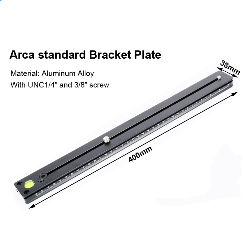 Long Sliding Quick Release Plate for Arca Swiss Stand 120mm and 250mm or 400mm Camera tripod lens bracket support base