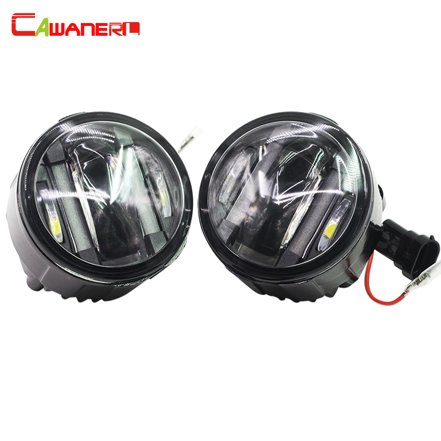 Cawanerl 2 Pieces Car Styling LED Fog Light DRL Daytime Running Lamp 12V Styling For Infiniti EX37 QX50 FX37 QX70 Q60 Q70 cawanerl for toyota highlander 2008 2012 car styling left right fog light led drl daytime running lamp white 12v 2 pieces