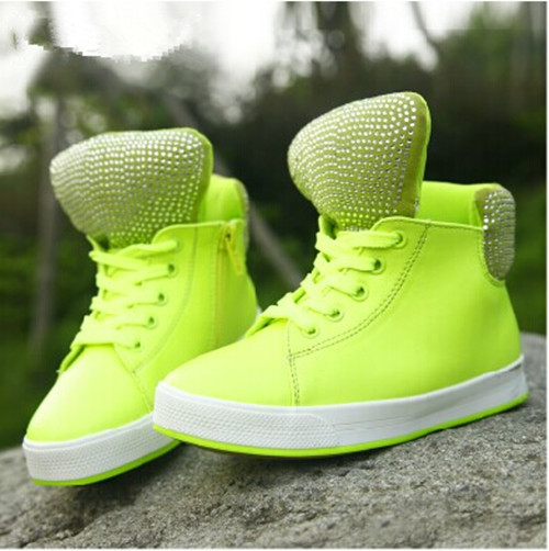 ФОТО 2015 New Spring Autumn style fashion Kids Children's sports shoes fashion help-top shoes Rhinestone Boys sneakers  F171