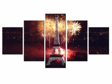 NEW 5 piece Scenic Tower Series Canvas Painting Wall Art Home Decor Poster Print unframe or framed/XC-city-39