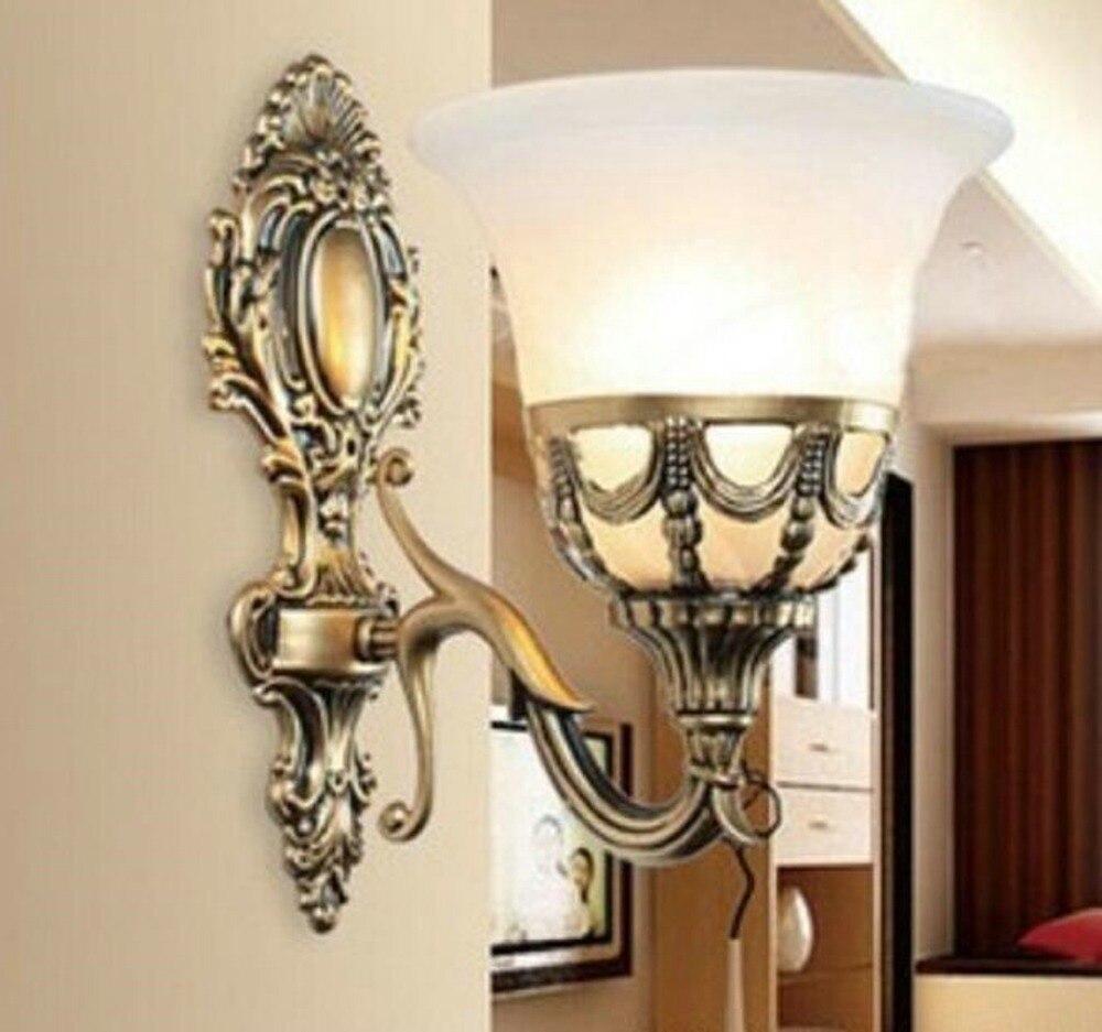 Single Wall Lighting Bed Room Wall Lamps Glass Shade Wall