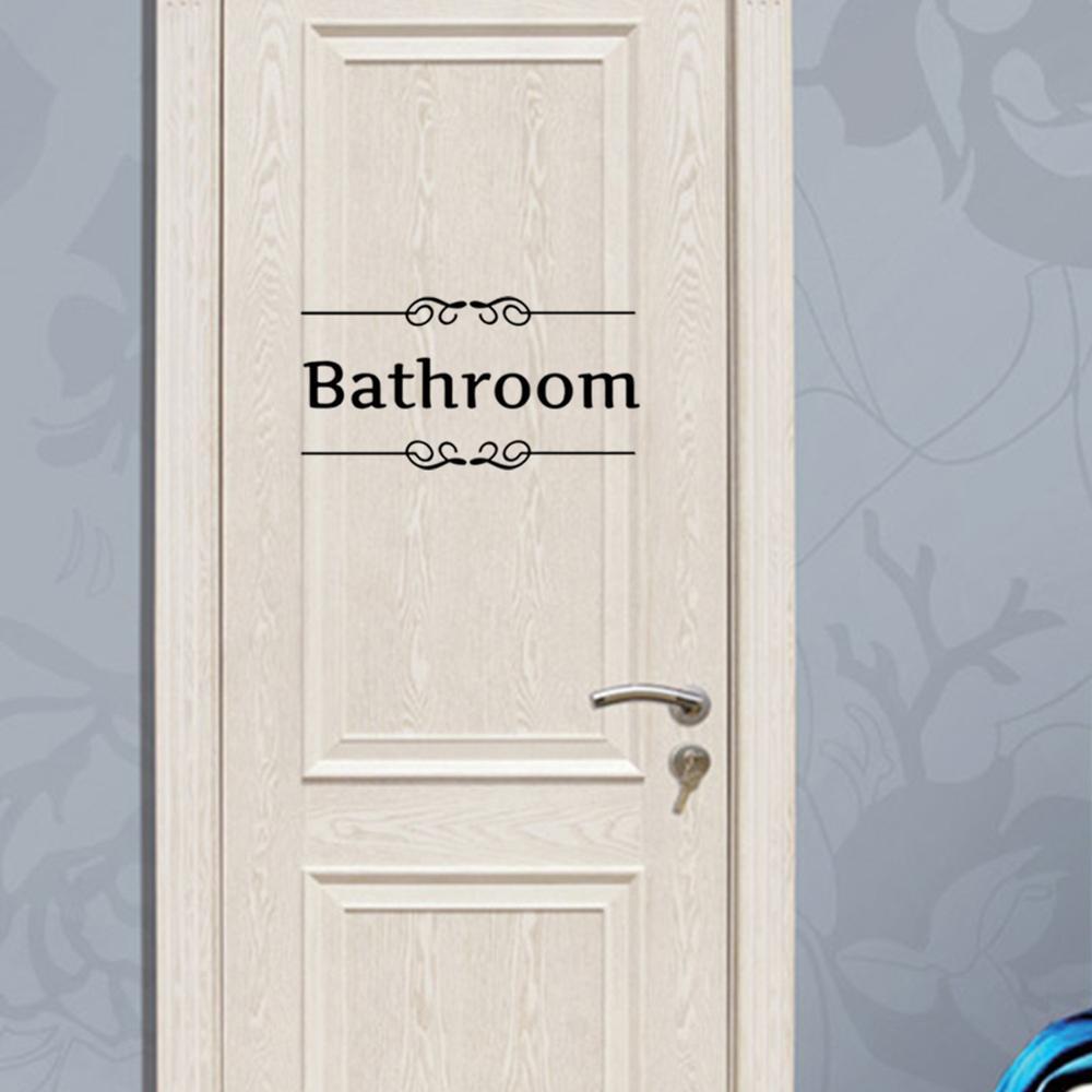 Deco Porte Salle De Bain €1.32 20% de réduction|vintage autocollant mural salle de bain décor  toilette porte vinyle décalque transfert vintage décoration citation mur  art