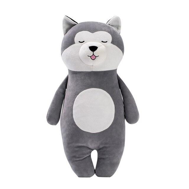 Us 12 75 48 Off Stuffed Animals Plush Soft Kawaii Stance Husky Doll Pillow Girl Holiday Gift Silver Fox Fur Doll Stuffed Toy Girlfriend Gift In