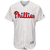 MLB Philadelphia Phillies Baseball Home White/Scarlet Flex Base Authentic Collection Team Jersey