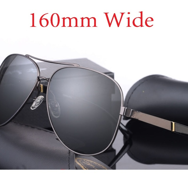 7d0623ae976 Vazrobe (160mm) Oversized Mens Polarized Sunglasses Driving Sun Glasses for  Man Fat Face Wide Head Male Sunglass Aviation