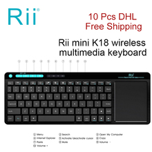 Rii K18 2 4GHz Wireless Multimedia font b Mini b font Keyboard With Large Size Touchpad