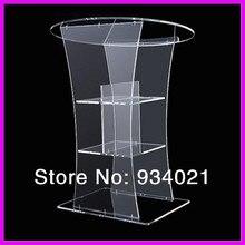 Изготовленный на заказ акриловый Pulpit/плексиглас Lectern платформа/акриловый подиум плексиглас
