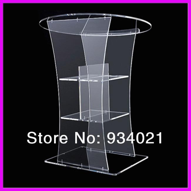 Custom Acrylic Pulpit/Plexiglass Lectern Platform/Acrylic Podium Plexiglass